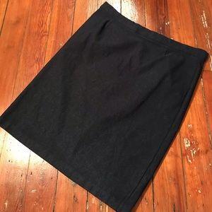 Navy pull on pencil skirt